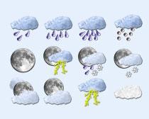 天气符号图标PNG图标