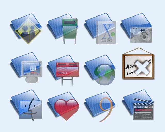 个性透明文件夹png图标