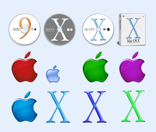 水晶风格的苹果系统png图标