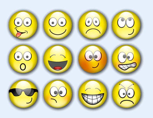 圆形的qq表情png图标
