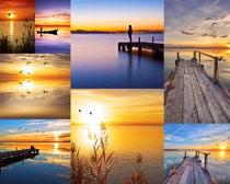 夕阳美景拍摄高清图片