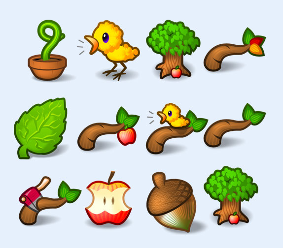 苹果树png图标