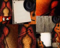 吉它與花朵拍攝高清圖片