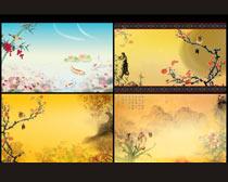 古典怀旧中国风展板设计PSD素材