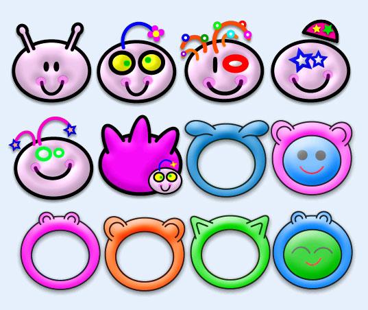 可爱的Baby素菜PNG表情-爱图网设计图片图标吃的图鸡表情包图片