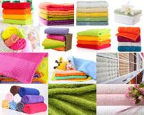 色彩毛巾生活用品摄影高清图片