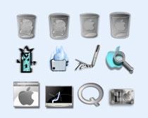 灰色的苹果标志PNG图标
