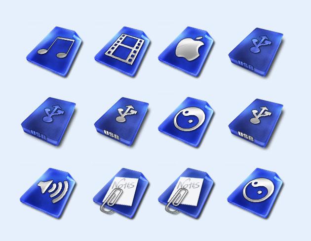 深蓝色的喇叭png图标