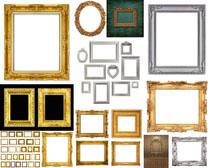 金色材料相框摄影高清图片
