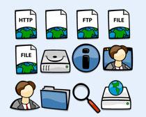 文件夹和垃圾桶PNG图标
