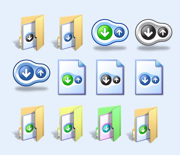 立体文件夹png图标