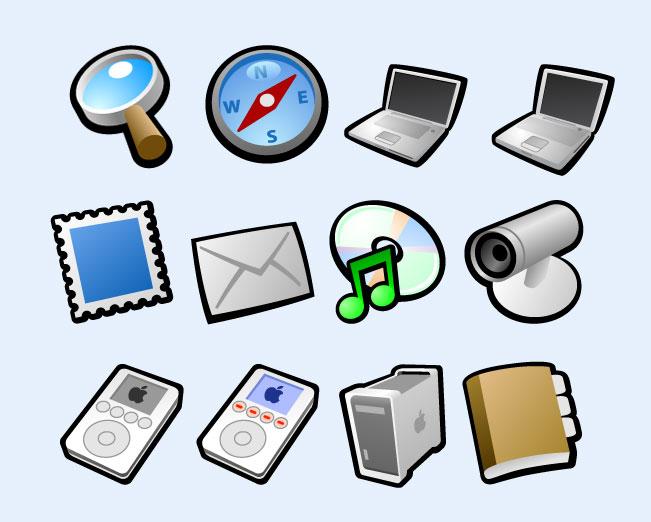 常规笔记本电脑png图标