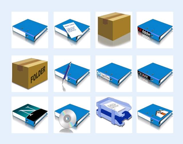 办公文件夹png图标 - 爱图网设计图片素材下载