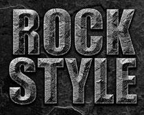 超酷岩石字体样式PS素材
