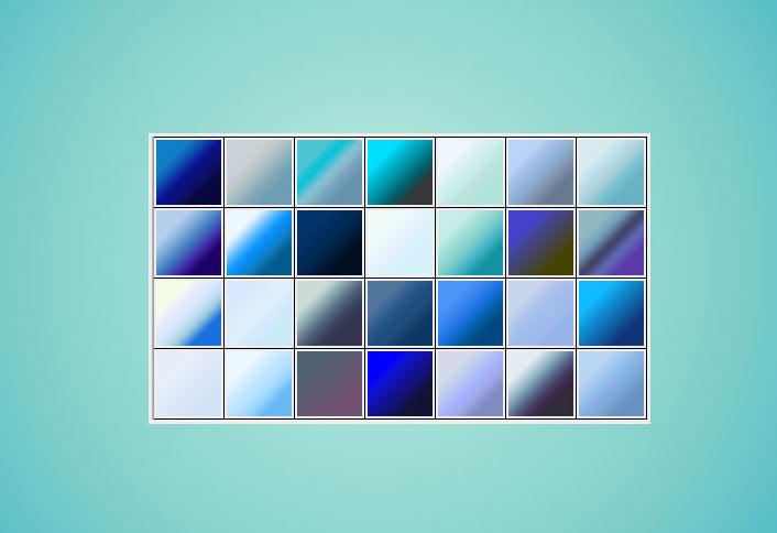 蓝白色渐变PS素材