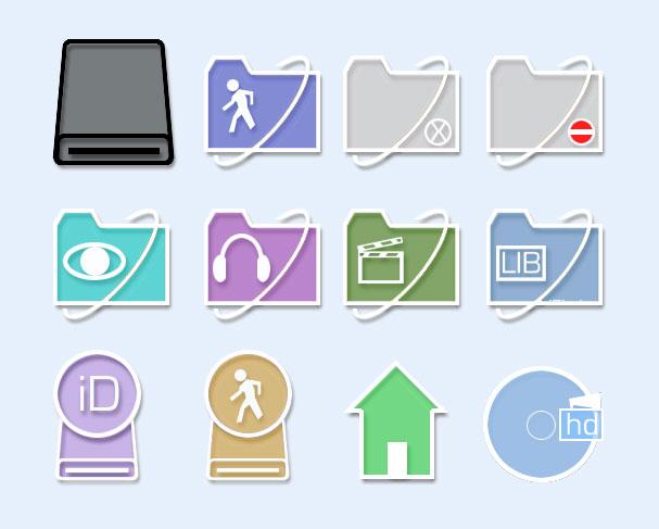 房屋 电影 耳机 眼睛 垃圾桶 系统设置 系统图标 png图标 免费素材