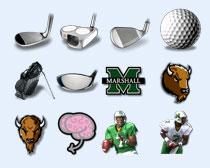 高爾夫球桿PNG圖標