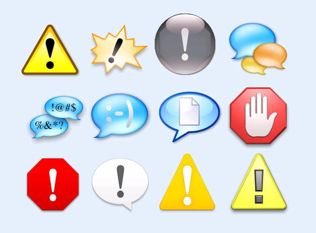 系统警告标志png图标