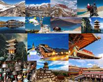 西藏旅游風景拍攝高清圖片