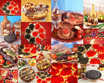 喜庆的美食拍摄高清图片