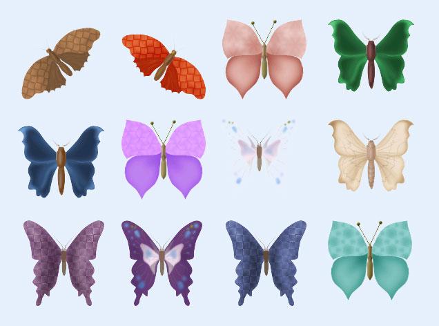 绿色的蝴蝶png图标