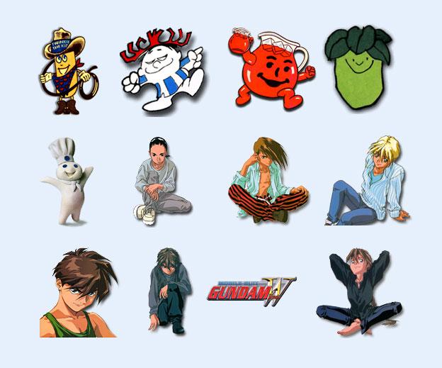 国外卡通人物png图标图片