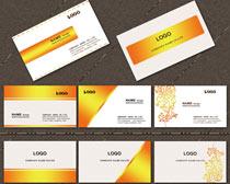 高档金黄色名片卡片设计PSD素材