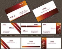 棕色名片卡片设计PSD素材