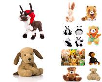 卡通动物玩具摄影高清图片