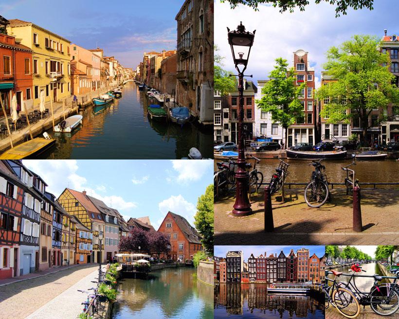外国小镇建筑风情高清图片