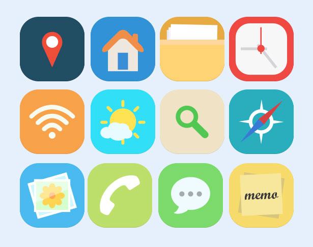 爱图首页 图标素材 系统图标 app wifi 电话 短信 天气 gps图标 应用