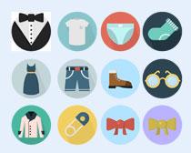 领带和蝴蝶结PNG图标