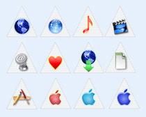 三角风格的苹果系统图标PNG图标