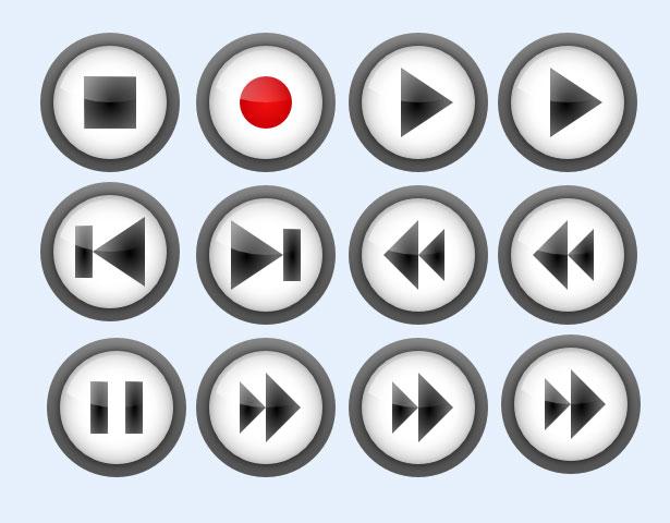 播放器按钮设计png图标
