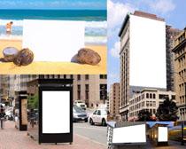建筑广告牌摄影高清图片