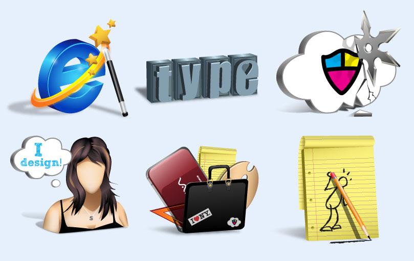 浏览器人物头像个性图标英文字母系统设置