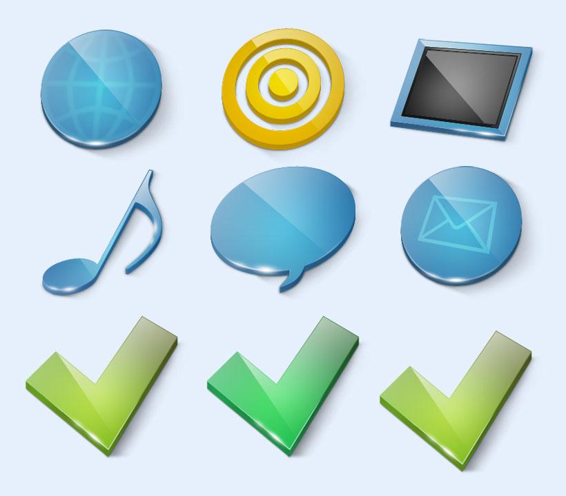 蓝色的平板电脑png图标图片