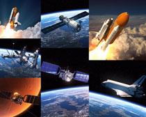 航空火箭与宇宙星空摄影高清图片