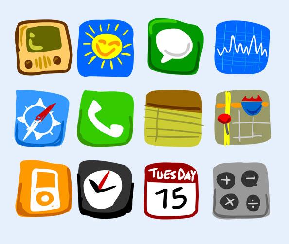 iphone手机系统图标png图标