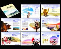 企业宣传册矢量素材