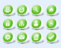 綠色的電腦小標志PNG圖標