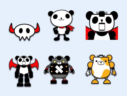 熊猫机器人png图标
