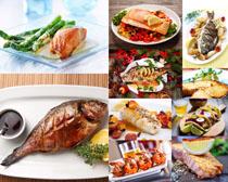 烤鱼美食摄影高清图片