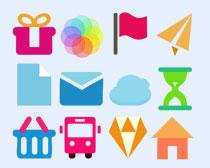 清新風格的郵件圖標PNG圖標