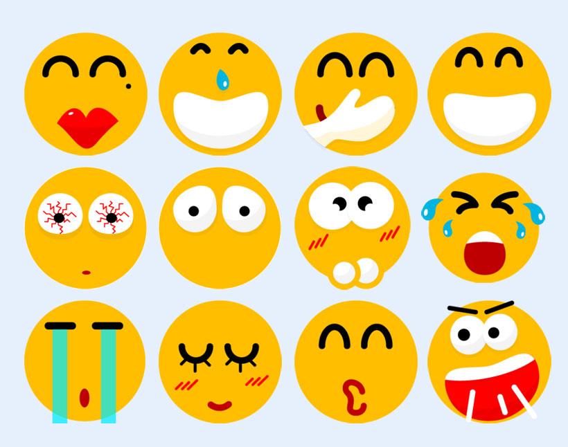 可爱又夸张的表情PNG表情-爱图网设计图片素材下载图片包生病的头疼图标图片