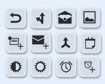 灰色的手機應用圖標PNG圖標