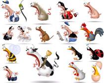 惊奇的卡通动物摄影高清图片