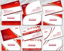 红色名片设计PSD素材