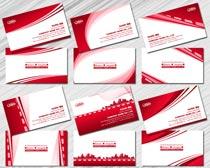 高雅红色名片设计PSD素材