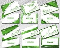 清爽绿色名片设计PSD素材